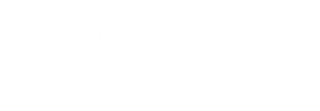 J C Williams ELectrical Logo White - Electrician Geelong